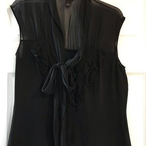 White House Black Market sleeveless Black Blouse